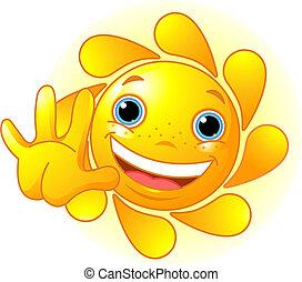 Süße Sonne, die aufgeht