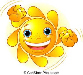 Süße tanzende Sonne
