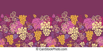 Süße Trauben-Vanen horizontal nahtlos im Hintergrund