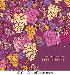 Süße Weinreben mit Eckrahmen.