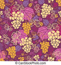 Süße Weinreben, nahtloser Muster Hintergrund