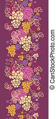 Süße Weintrauben vertikale, nahrhafte Hintergrundgrenze
