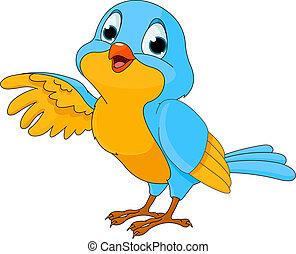 Süßer Cartoon-Vogel