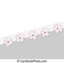 Süßer Frühlingsblüten Hintergrund.