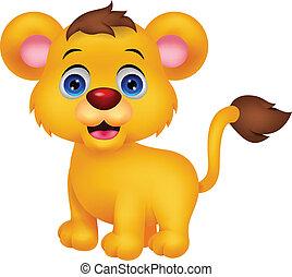 Süßer, kleiner Löwe-Cartoon.