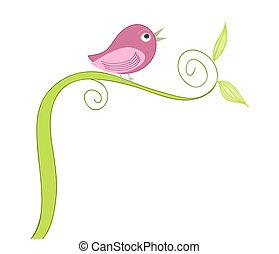 Süßer singender Vogel