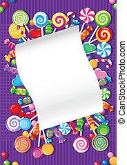 Süßigkeiten-Karte