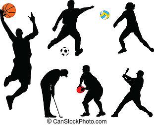 Sammeln verschiedener Sportarten