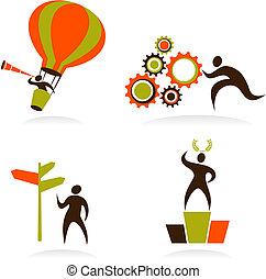 Sammlung abstrakter Logos - 1