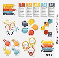 Sammlung von infographischen Vorlagen für Business Vektor illustra.