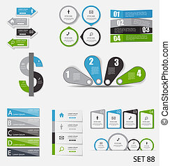 Sammlung von infographischen Vorlagen für die Geschäftsvektorgrafik