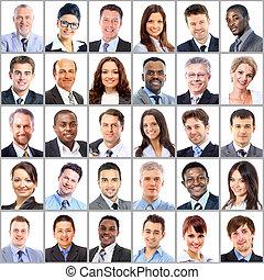 Sammlung von Porträts von Geschäftsleuten