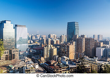 Santiago, Chile Skyline.