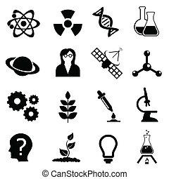 satz, biologie, wissenschaft, chemie, physik, ikone