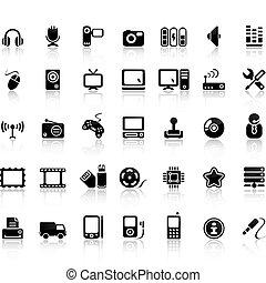 satz, video, ikone, ton