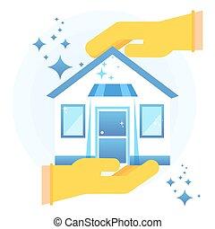Saubere Haus-Ikone