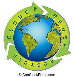Saubere Umwelt - konzeptionelles Recycling-Symbol