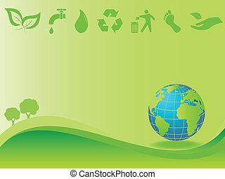 Saubere Umwelt und Erde