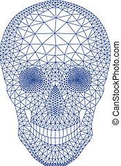 Schädel mit geometrischem Muster, vecto.