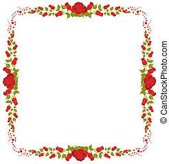 Schöner Rahmen aus Rosen