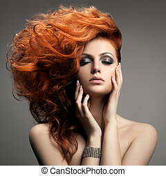 Schönes Portrait. Haarschnitt