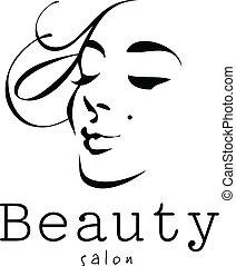 Schönheit, Frau - Vektor - Logo Salon.