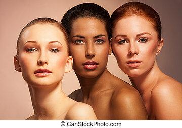 Schönheit in unterschiedlichem Aussehen