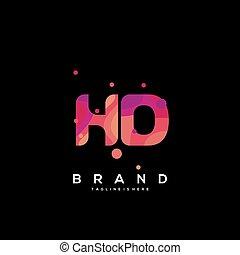 schablone, hd, vector., abzeichnen, bunte, logo