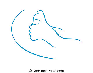 Schlafender Frauenkopf