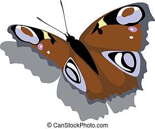 Schmetterling auf dem Papier
