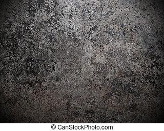 Schmutziges Metall, schwarz und weißer Hintergrund
