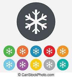Schneeflocken-Symbol. Klimaanlagensymbol.