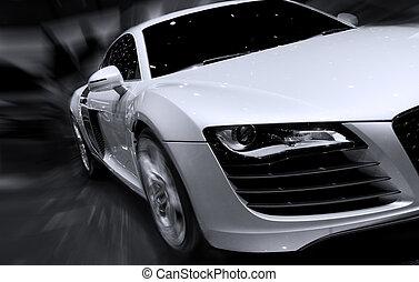 Schnelles Auto mit Bewegungsmix