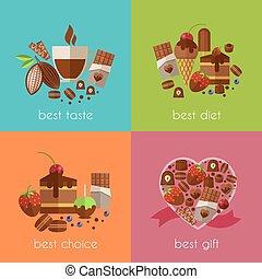 Schokolade ist die beste Diät Banner