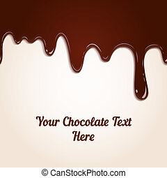Schokolade tropft.
