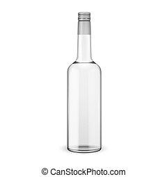 schraube, wodka, cap., flasche, glas
