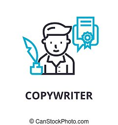 Schreibmaschine dünne Linie Icon, Zeichen, Symbol, Illustation, lineares Konzept, Vektor.