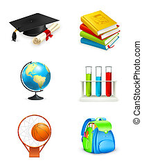 Schul-Ikonen, Vektor