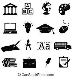 Schul- und Bildungs-Ikonen