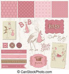 Schulbuch-Kennzeichnungen - Baby-Mädchen-Ansage