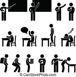 Schullehrer-Schülerzimmer