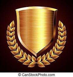 schutzschirm, gold