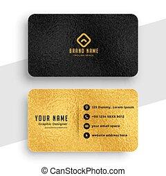 schwarz, design, gold, prämie, stilvoll, geschäftskarte