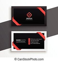schwarz, design, rote karte, stilvoll, geschaeftswelt