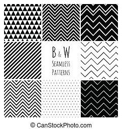 Schwarz-Weiß-Geometrischer Hintergrund.