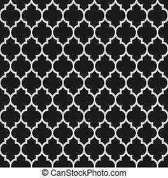 Schwarz-Weiß-Islamisches nahtloses Muster