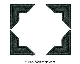 Schwarze Fotoecken