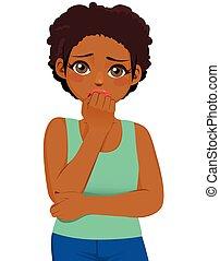 Schwarze Mädchen haben Angst.