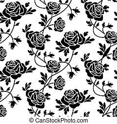 Schwarze Rosen auf weiß