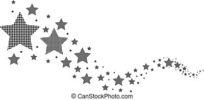 Schwarze und weiße Sterne